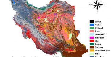 دانلود نقشه پوشش اراضی ایران
