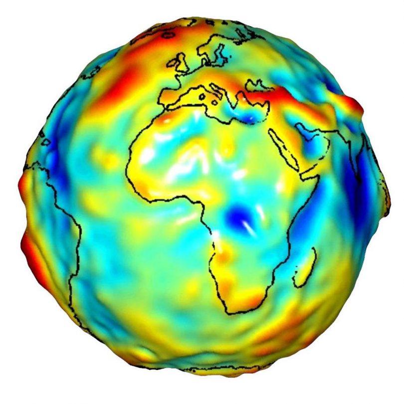 تغییرات آب زیر زمینی با grace