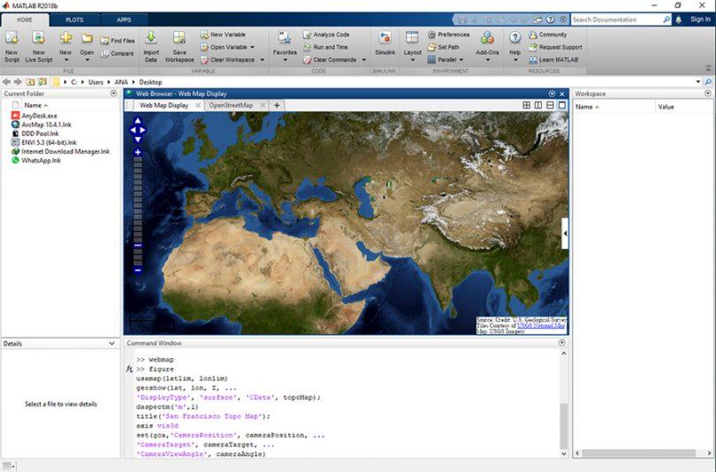جعبه ابزار mapping در متلب