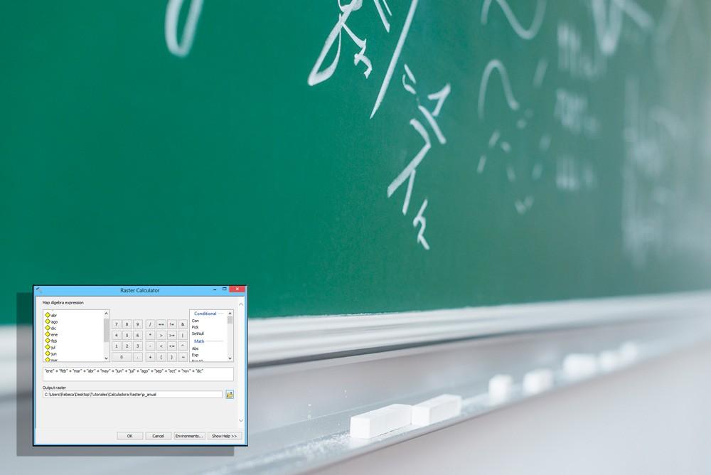 آموزش استفاده از raster calculator