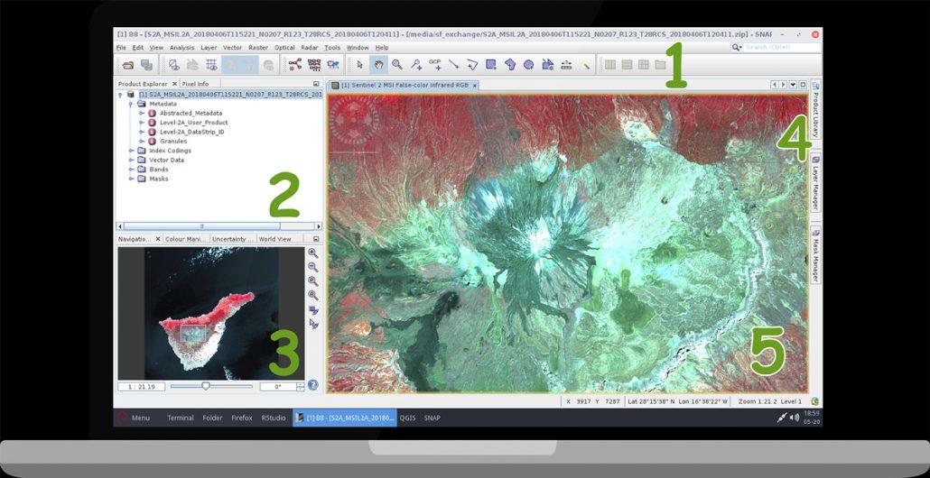 نرم افزار SNAP - پردازش تصاویر سنتینل